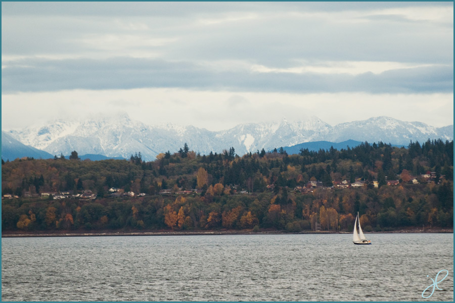 Puget Sound and Cascade Mountain Range