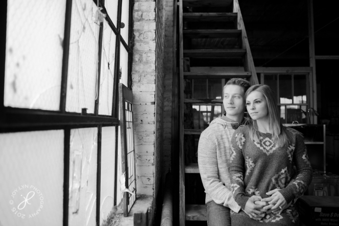 chicago engagement session salvage one