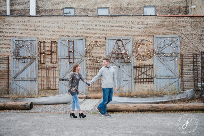 salvage one chicago engagement session